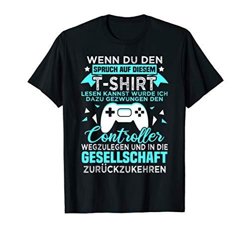 Gamer Zocker Games Pc - Lustiges Gaming Spruch T-Shirt
