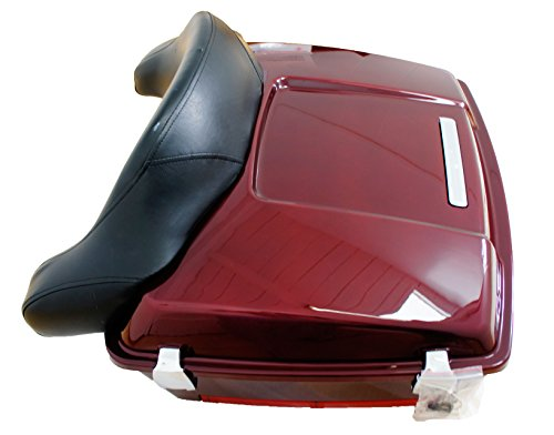 Purchase Fire Red Chopped Premium Tour Pak for Harley Touring with Wraparound Backrest