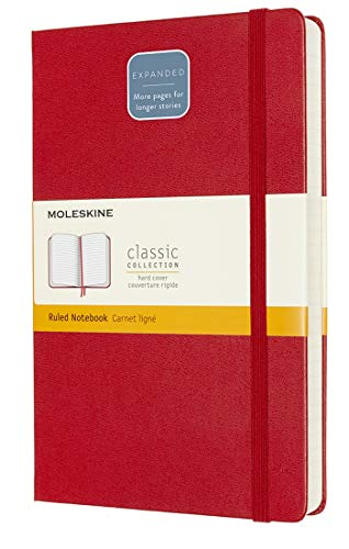 Moleskine - Cuaderno Clásico con Hojas de Rayas, Tapa Dura y Cierre...