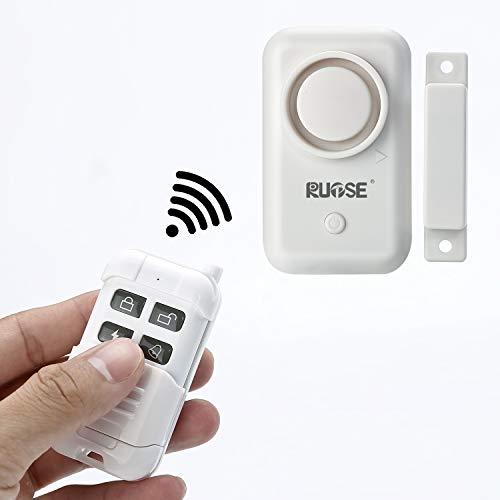 Rupse Tür- und Fenstersensoren, Alarmanlage Magnetsensor Mit Fernbedienung Für Die Sicherheit Zu Hause, Intelligenter Alarm Fernbedienung Diebstahlalarm 120 DB
