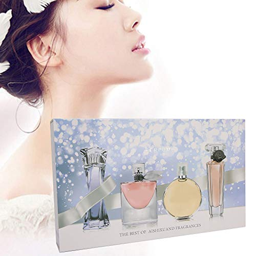 4pcs Women Perfume Set, Naturally Mild Non‑irritating Long‑Lasting Perfume Lady Parfum Spray Nevada