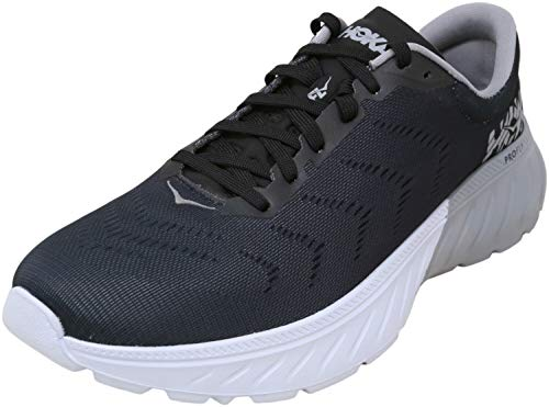 HOKA ONE ONE Women's Mach 2 Running Shoe, Black/White 8