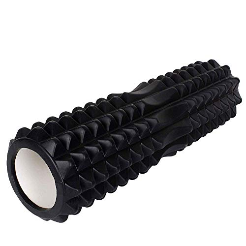 Strauss Grid Foam Roller, 33 cm, (Black)