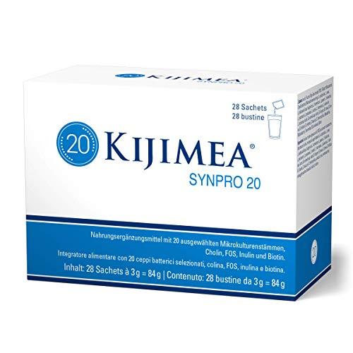 Kijimea Synpro 20 - Zu jedem Antibiotikum - 20 synergistische Mikrokulturenstämme, Cholin und Biotin - glutenfrei, laktosefrei - 28 Sachets