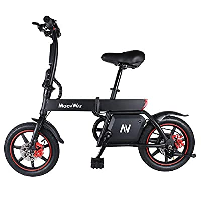 Windgoo Electric Scooter, 14 Inches Electric Bike, Max Speed 25km/h, 20km Long-Range, 350W/36V Charging Lithium Battery, Folding Scooters for Adults and Kids… (B20)