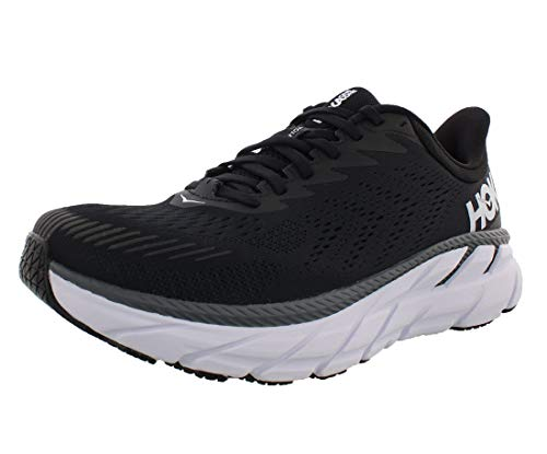 HOKA ONE ONE Clifton 7 Wide Womens Shoes Size 7, Color: Black/White