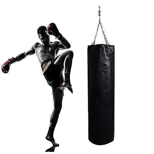 SRFDD Schwere Boxing Boxsack, Leder Leeren Sandbag Hanging Boxsack Trainings MMA Kickboxen Muay Thai Boxing Sandbag Haken Kick-Sandbag Für Kid Adult