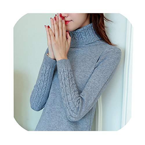 Vrouwen Casual Streetwear Truien Nieuwe Winter Lange Mouwen Coltrui Cashmere Koreaanse Elasticiteit Truien 2019