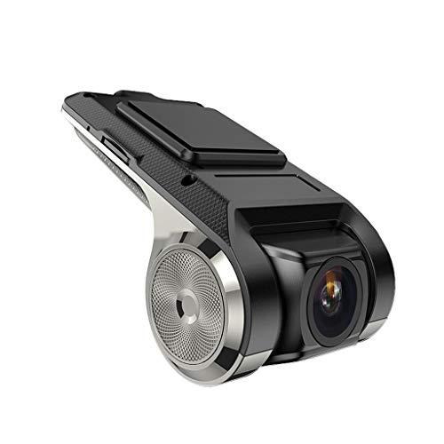 RENLEINB Dash Cam Camera Aluminium USB Interface Zilver 1080P HD F2.0 Diafragma 170° Brede Hoek Camera Voor en Achter Dubbele Camera