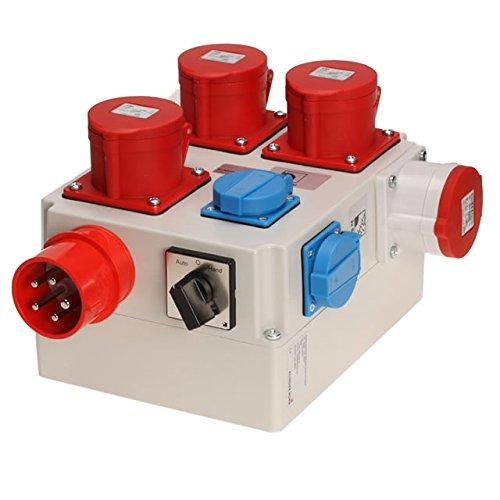 Einschaltautomatik 3Ph-400V / 230V mit Umschaltung für Absaugung