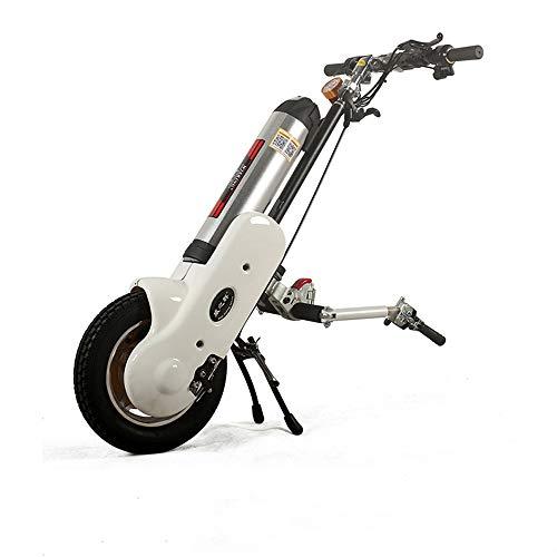 Draagbare rolstoeltractor, opvouwbaar, in hoogte verstelbaar, lichte rolstoelbooster met nachtlampje met elektromagnetische rem voor LCD-instrumenten. Doublerod