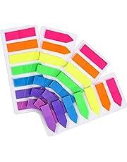 JASLY 4 Sets Neon Pagina Markers Gekleurde Index Tabs, Fluorescerende Sticky Note voor Pagina Marker, 560pcs
