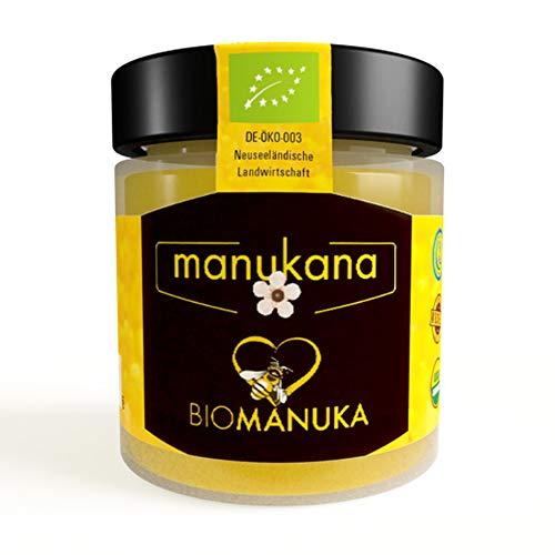 Manukana Bio Raw Manuka Honig | Ethische Imkerei | Echte Gläser (MGO 400+ | 250g)