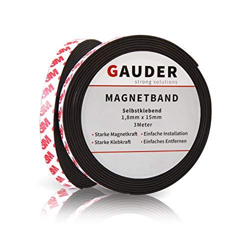 GAUDER Nastro Magnetico Autoadesivo Forte | Banda Magnetica Adesiva | Striscia Calamita