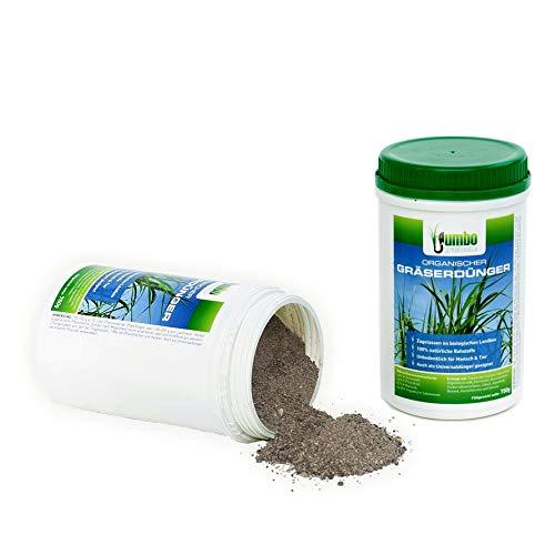 Jumbogras® Gräser-Dünger mit Langzeit-Wirkung, 5 x 750 g-Vorteilspackung, 100% Naturdünger/Ökodünger für Ziergräser, Gräserdünger für Gräser-Beete, Gras-Pflanzungen