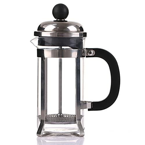 SQL 350 ml de Acero Inoxidable de Cristal Filtro francés Cafetera Café Café Té Pot Embrigo Hollow Coffee Pot Tool Accesorios