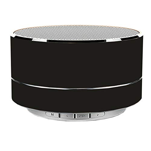 Portable Wireless Bluetooth Speaker with AUX Line,TF Card,HD Sound and Bass for iPhone Ipad Android Smartphone and More (Black)