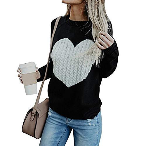 OtoñO E Invierno Nuevo SuéTer De Punto para Mujer Love Fashion Pullover Sweater