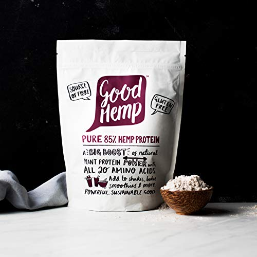 Good Hemp 85% Pure Protein, Natural Plant Protein Power with All 20 Amino Acids (Pack of 4)
