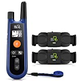 DOG CARE Dog Training Collar with Remote-w/2 Receivers,Rechargeable Dog Shock Collar,1000Ft Remote Range,Dog Collar for Large Medium Small Dogs