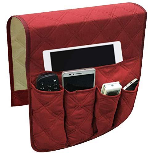 LAOZI Sofa Organizer Sofa, Aufbewahrungstasche Sofa Armlehnen Hängetasche mit 5 Taschen für Bücher Zeitschriften IPad TV Fernbedienung für Couch Bedside