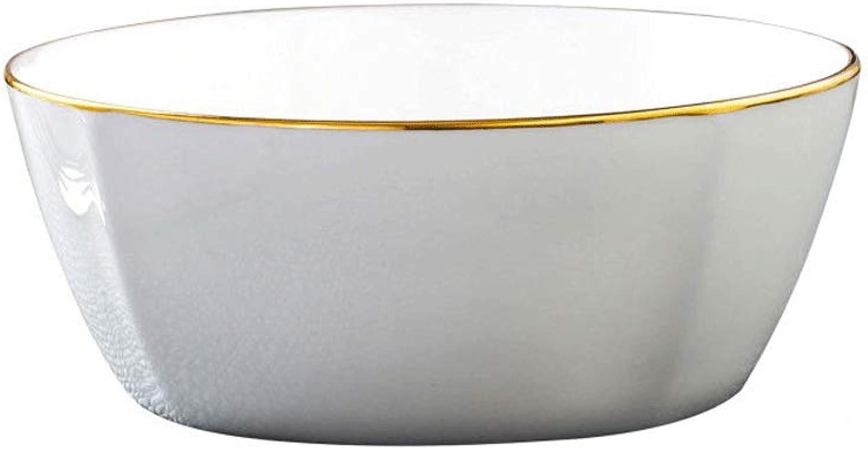 Bol Set Dessert Bowl Bol à Soupe Aux Céréales Convient à Diverses Occasions (5.5 Pouces) 3 Ensembles De Bol à Salade Blanche (Couleur   Blanc)