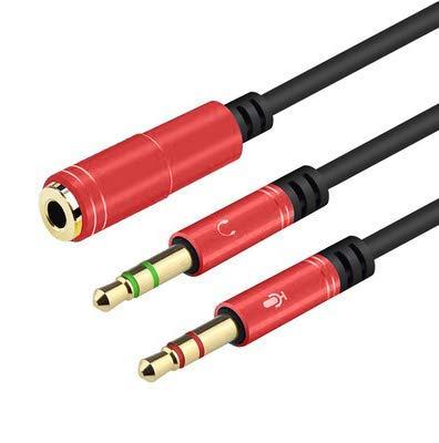 Adaptador de Auriculares Jack Cable de Audio Auxiliar Adaptador de Auriculares de 3.5 mm