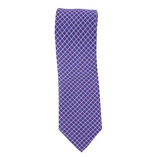 Cotton Park - Cravate 100% soie parme - Homme