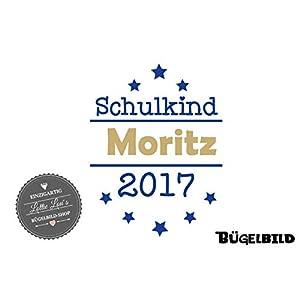 Bügelbild Schulkind Kindergarten Erstklassig Stern in Flex, Glitzer, Flock, Effekt in Wunschgröße