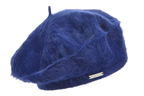Angora Basco Seeberger Mütze Baskenmütze Damen Mütze Wintermütze Baskenmütze, Blau One size