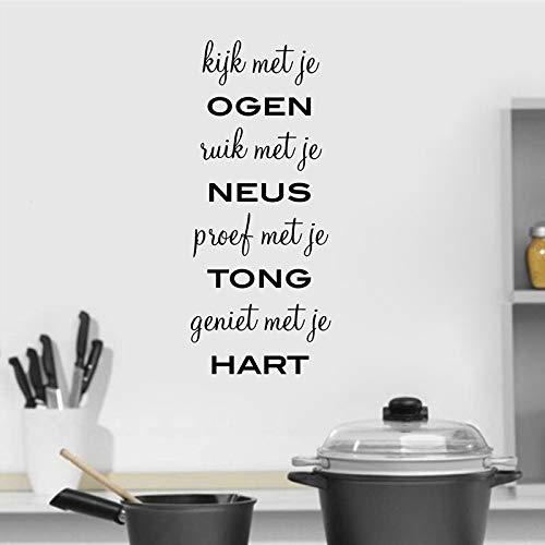 Cocina holandesa arte de la pared decoración de vinilo pegatinas de pared holandés hogar cocina arte de la pared decoración del hogar pegatinas de pared otro color 57x24 cm