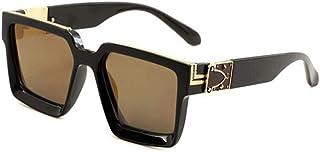WEIJIANGBEI النظارات الشمسية سميكة الإطار الرجال والنساء القيادة ساحة نظارات شمسية UV400