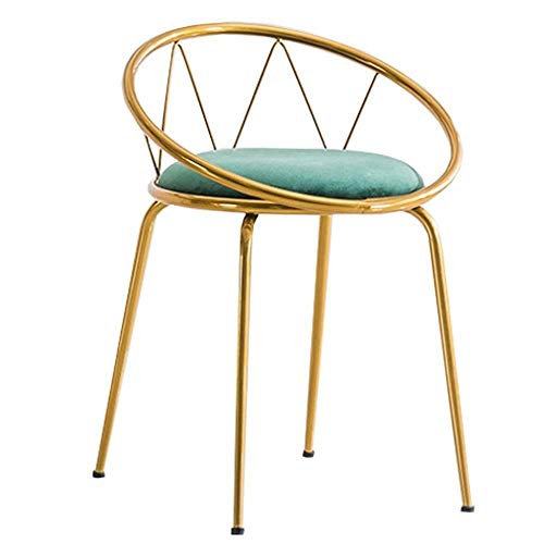 IAIZI Moderne hoge barkruk voor keuken, lage rugleuning, eetkamerstoel met fluweel bekleed, zithoogte