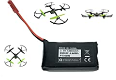 1200mAh Li-Po Battery for Sky Viper S1700 S1750 Drone is pictured for example of use only and not included Battery may have different label due to the different suppliers. It is still the same battery and the same brand do not worry.