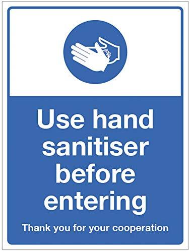 Utilizzare un disinfettante per le mani prima di entrare.