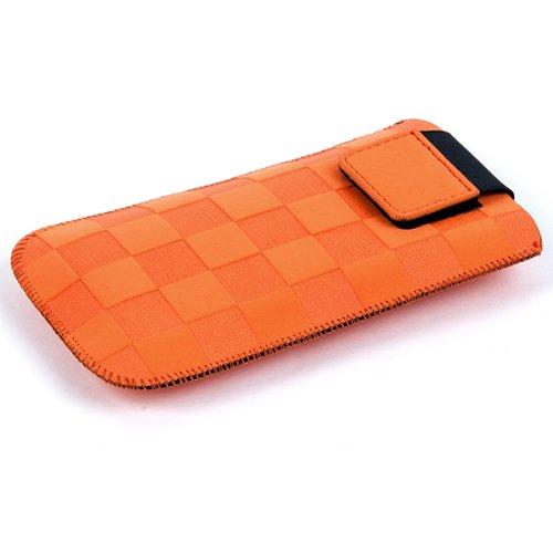 NFE² Etui offen - apricot - mit Ausziehlasche & flacher Gürtelschlaufe für Samsung SGH-D600