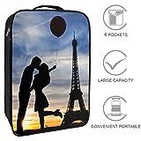 Bennigiry Kissing in Paris Bolsa de zapatos de viaje, organizador de almacenamiento portátil para zapatos de golf, para hombres y mujeres
