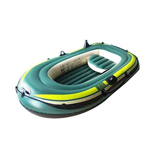 SZHWLKJ PVC verde inflable tres personas remo barco aire pesca deriva buceo herramienta
