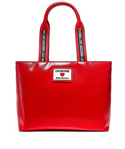 Love Moschino Precolección Ss21 - Bolso de la compra para mujer, estilo deportivo Rojo Size: Normal