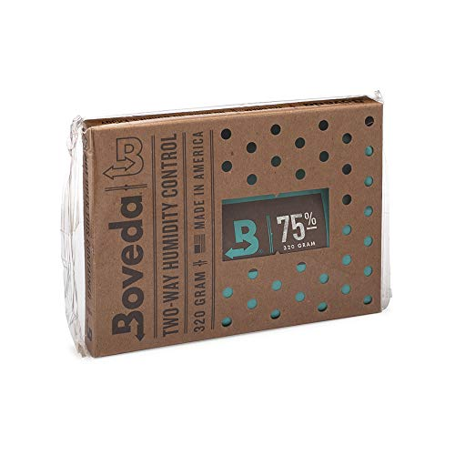 Boveda for Cigars/Tobacco | 75% RH 2-Way Humidity Control | Size 320 for Use with Up to 100 Cigars | Patented Technology for Cigar Humidors | 1-Count
