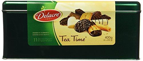 DELACRE Tea Time Boîte en Métal 400 g - Lot de 4