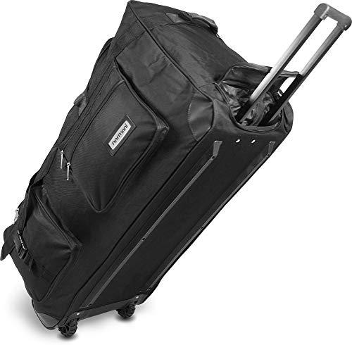 normani Reisetasche Jumbo Big-Travel mit Rollen riesige XXL V4 5. Generation Schwarz / 100 Liter