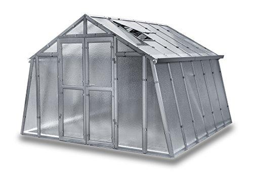 Gewächshaus Landhaus NEU aus verzinkten Metallprofilen und Nörpelglas, Breite 3,03 m (Länge 7,50 m) Gebraucht = Fake-Angebot