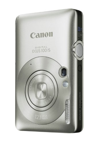 Canon Digital IXUS 100 IS Digitalkamera (12 MP, 3-fach opt. Zoom, 6,4cm (2,5 Zoll) Display, HDMI, SLIM) silber