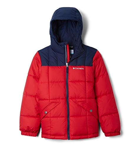 Columbia Jungen Ski-Jacke, Gyroslope, Rot/Blau (Mountain Red, Collegiate Navy), XL