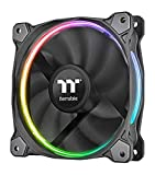 Thermaltake 12 RGB TT Premium Edition 120mm Software Enabled Circular RGB LED Ring Case/Radiator Fan - Triple Pack CL-F049-PL12SW-A