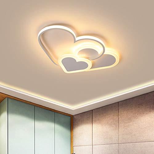 LED Schlafzimmer-Leuchte Deckenleuchte Chic Liebe Design Modern Dimmbar Hochzeitszimmer Deckenlampe Warm Romantisch Acryl-Schirm Kinderzimmer Mädchenzimmer Kronleuchter Flur Jugendzimmer Hängelampe
