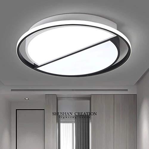 YANGSANJIN LED Deckenleuchte 58W Deckenlampe Bürodeckenleuchte Für Bad Balkon Wohnzimmer Schlafzimmer 6500K Weißes Licht 220-240V, Black