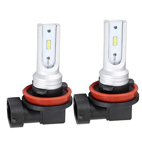 Duokon 1 paar 72 W LED-autolampen voor H8 H11 mistlampen, superhelder, met canbus decoder (wit 6000 K)