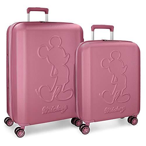 Set valigie rigide 55-68cm Mickey Premium Rosa